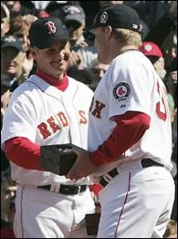 Terry Francona and Curt Schilling