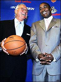 Larry Brown and Isiah Thomas
