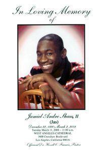 Jamiel Shaw flyer