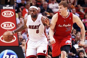 LeBron James and Blake Griffin
