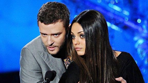 Timberlake and Kunis