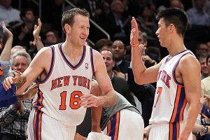 Jeremy Lin #17 and Steve Novak #16