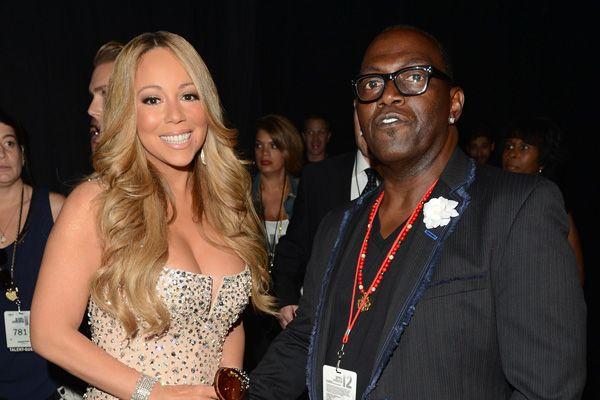 Mariah Carey and Randy Jackson