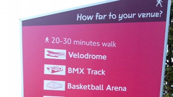 Olympic venue sign