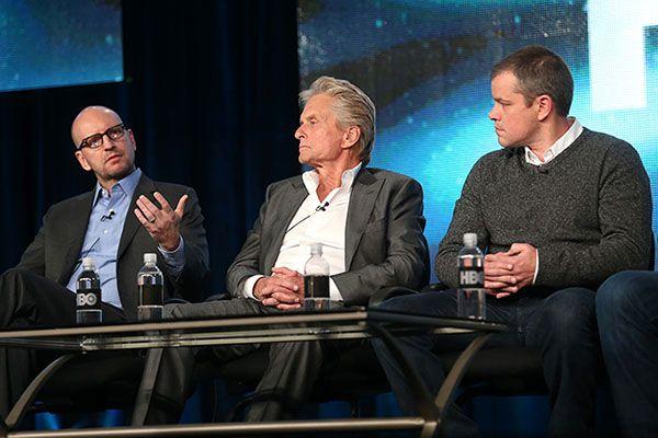 Steven Soderbergh, Michael Douglas, Matt Damon