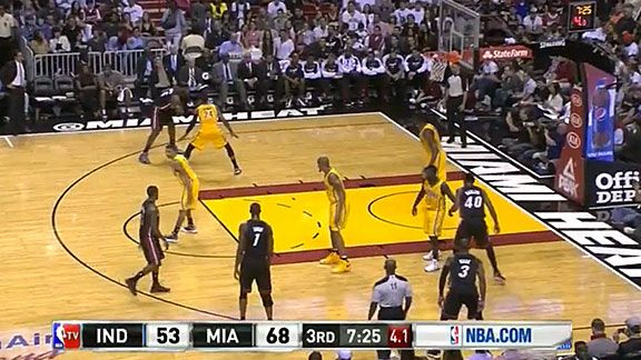 LeBron James Isolation - Heat v. Pacers
