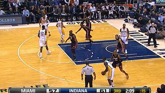 LeBron Point - Heat v. Pacers