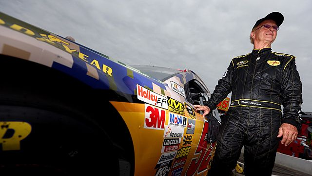 Morgan Shepherd, driver of the #52 Support Military Toyota