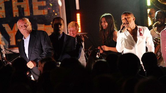 Colin Powell, Jamie Foxx, Ellen DeGeneres, katie Holmes and Pharrell Williams