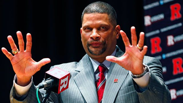 Eddie Jordan, the former Rutgers star, is introduced as the school's head men's basketball coach on April 23, 2013 in New Brunswick, New Jersey. Jordan, who starred in the 1970s with Rutgers and made it to the Final Four in 1976, replaces Mike Rice who wa