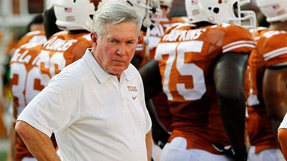 Texas Longhorns coach Mack Brown
