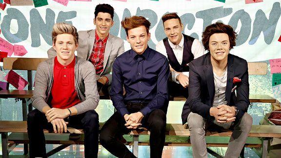 One Direction Madame Tussauds wax figures