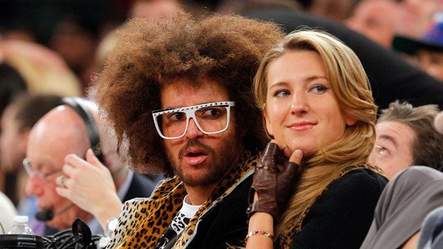 Singer Redfoo from LMFAO and tennis player Victoria Azarenka