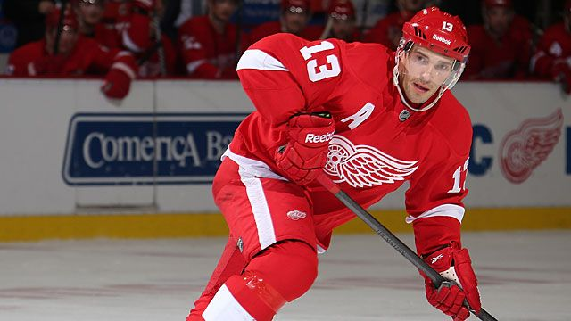 Pavel Datsyuk #13 of the Detroit Red Wings