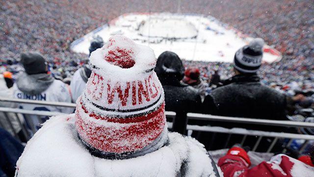A Detroit Red Wings fan