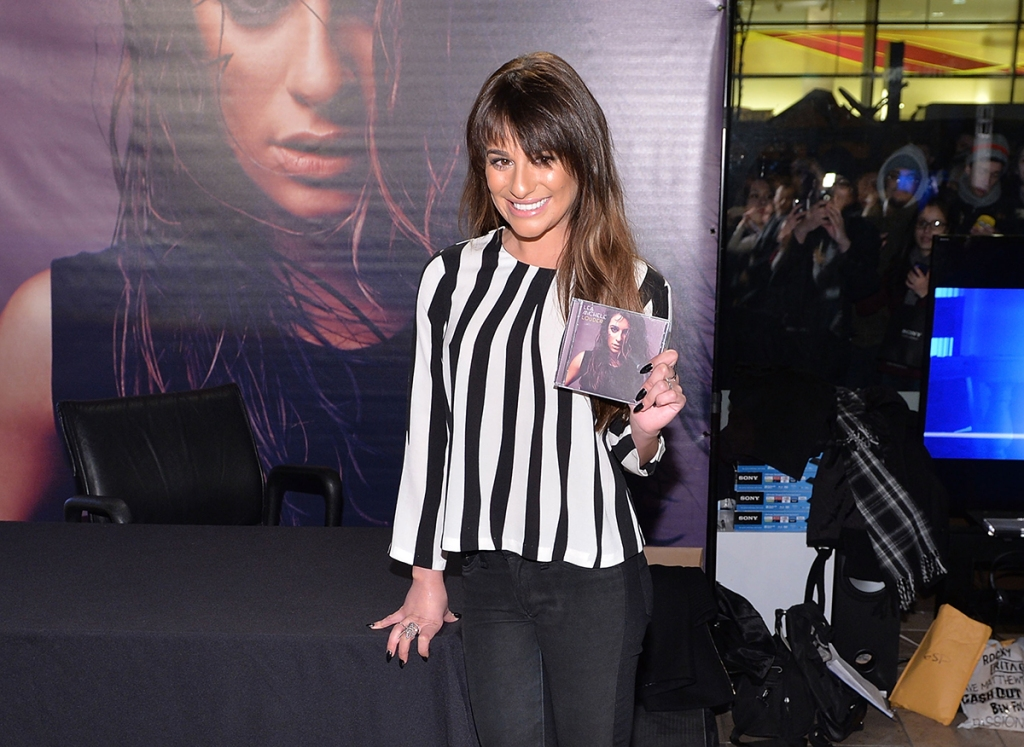 """Lea Michele Signs Copies Of Her """"Louder"""" CD"""