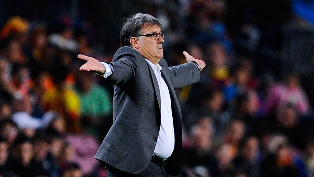 Head coach Gerardo 'Tata' Martino