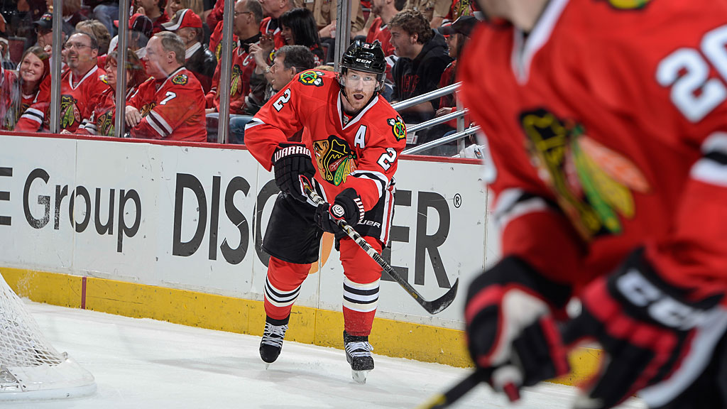 Duncan Keith #2 of the Chicago Blackhawks