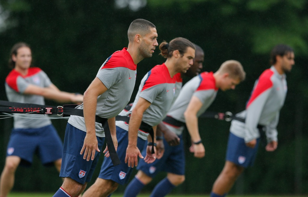 USA Training & Press Conference - 2014 FIFA World Cup