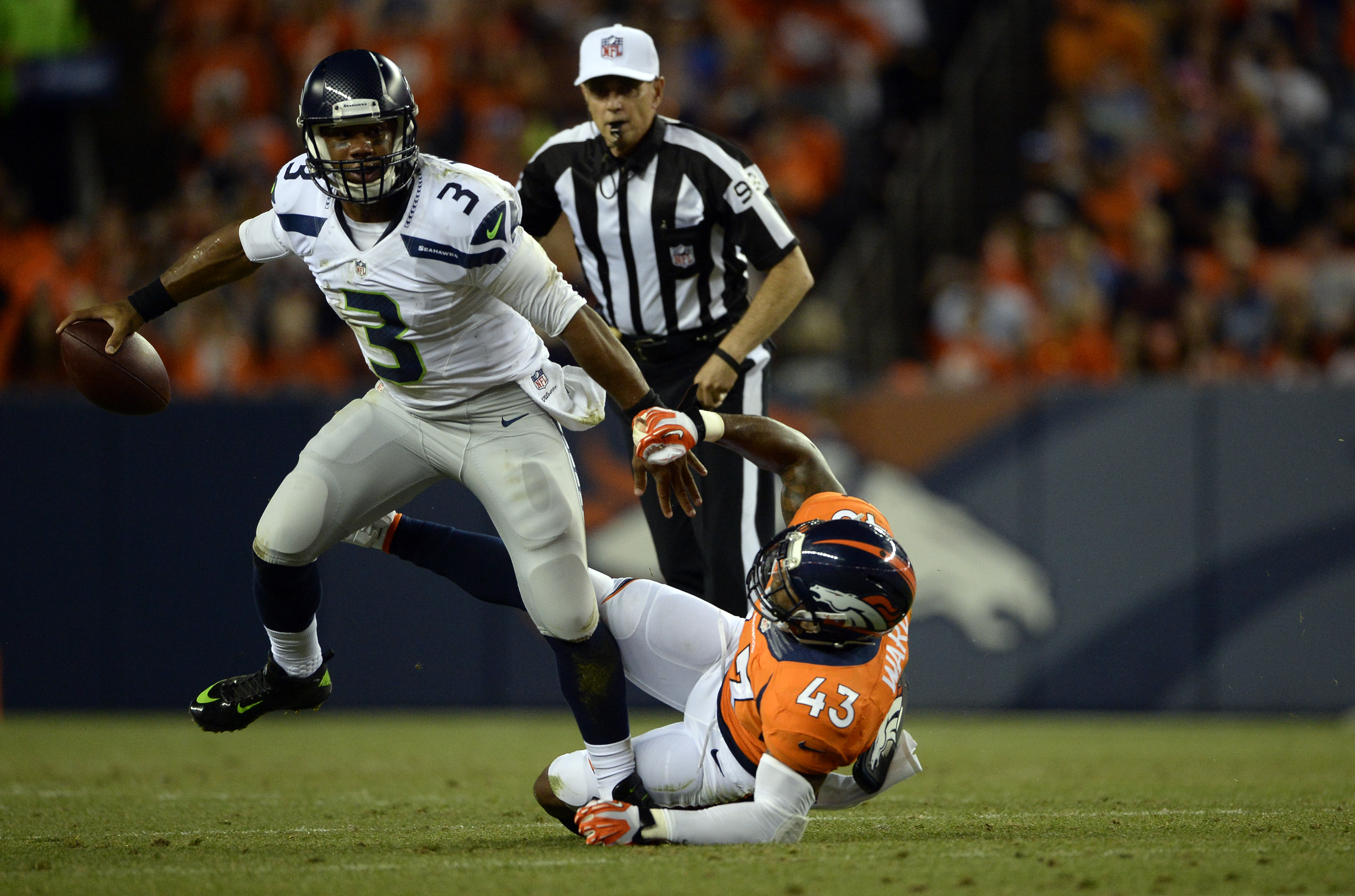 Denver Broncos vs the Seattle Seahawks
