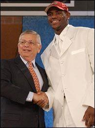David Stern, LeBron James