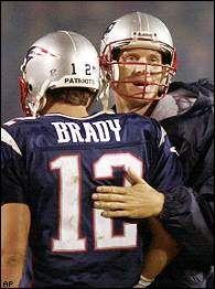Drew Bledsoe, Tom Brady