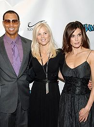 Tiger Woods, Elin Nordegren and Teri Hatcher