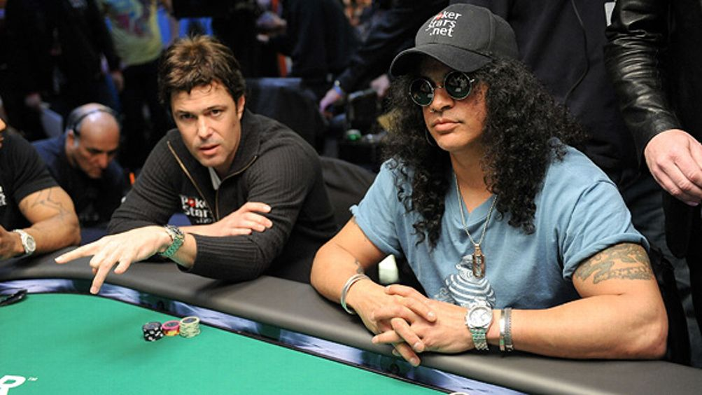 Slash and Carlos Bernard