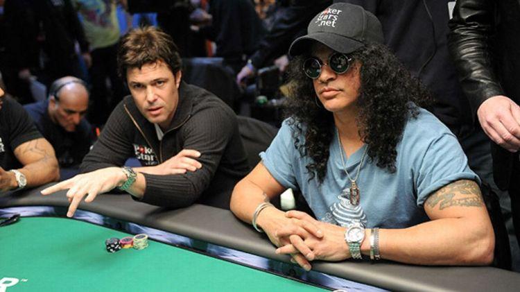 Slash and Carlos Bernard