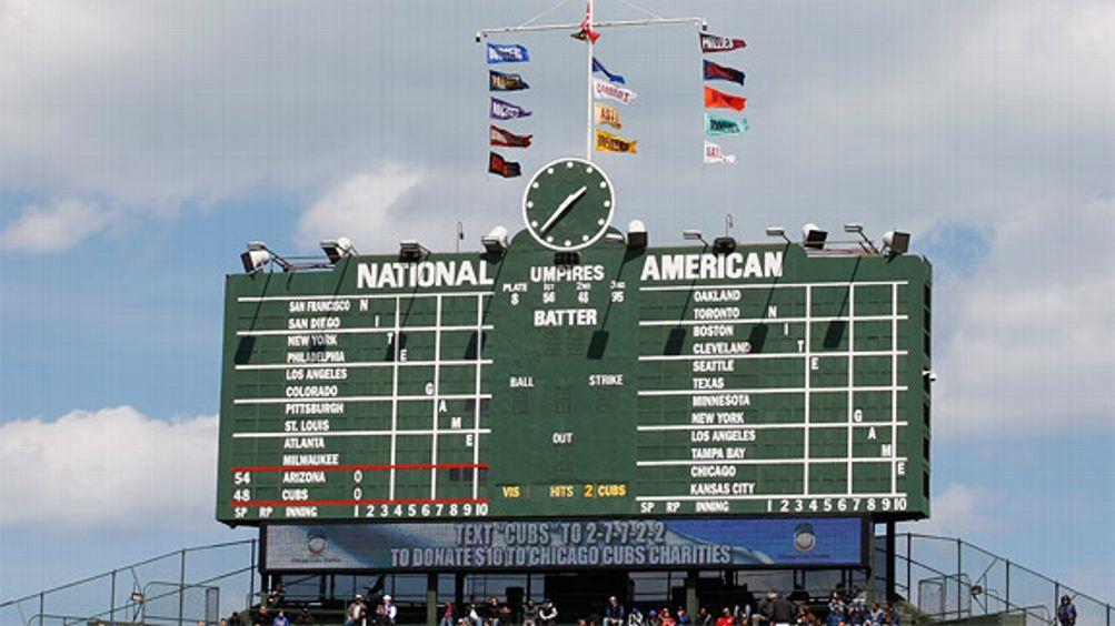 Wrigley Field scoreboard