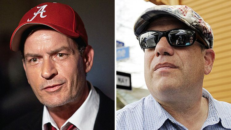 Charlie Sheen and David Simon