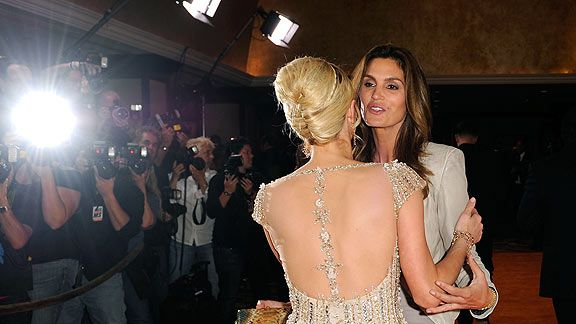 Paris Hilton and model Cindy Crawford