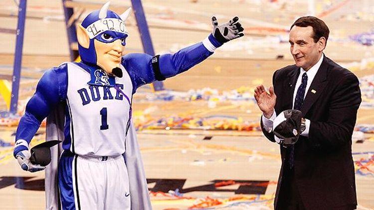 Coach K and Duke Blue Devil
