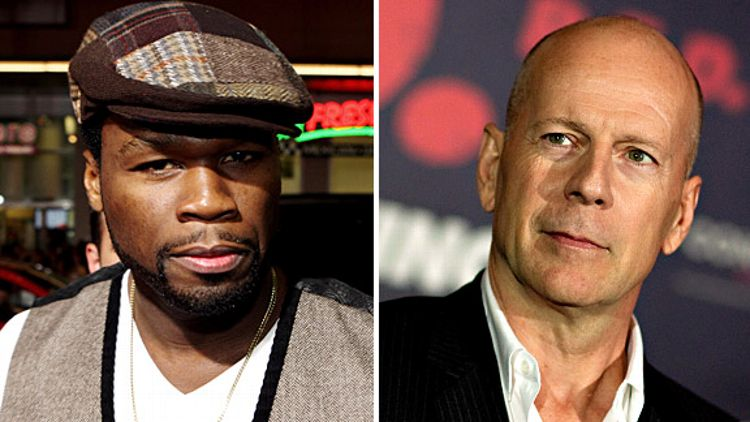 50 Cent and Bruce Willis