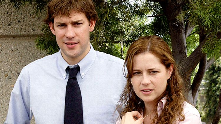 "Jim and Pam in ""The Office"""