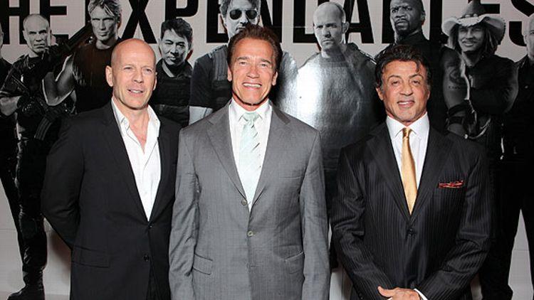 Bruce Willis/Sylvester Stallone/Arnold Schwarzenegger