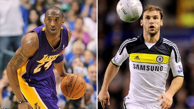 Kobe Bryant and Branislav Ivanovic