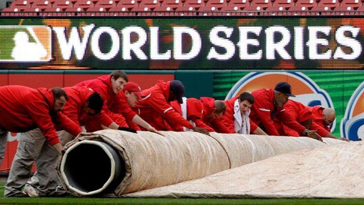 World Series tarp