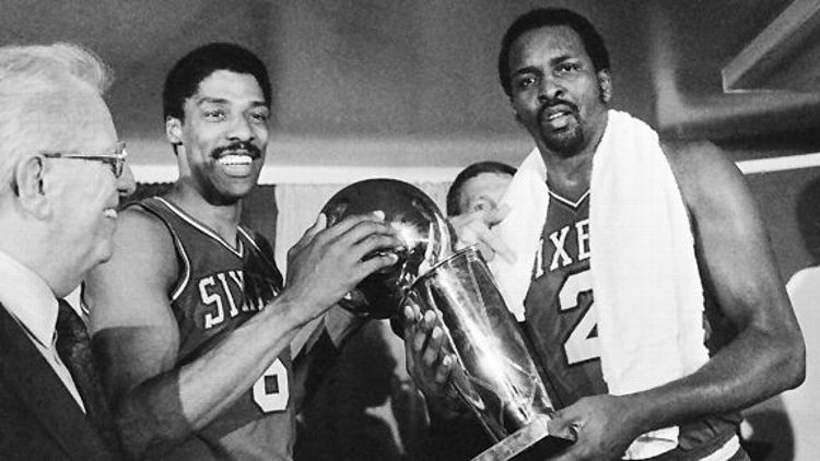 Moses Malone and Julius Erving
