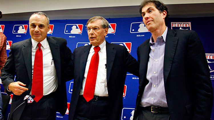 Rob Manfred, Bud Selig & Michael Weiner