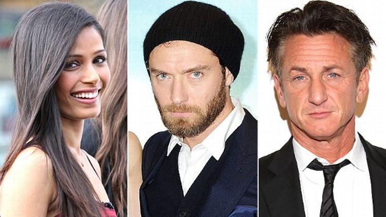 Freida Pinto, Jude Law & Sean Penn