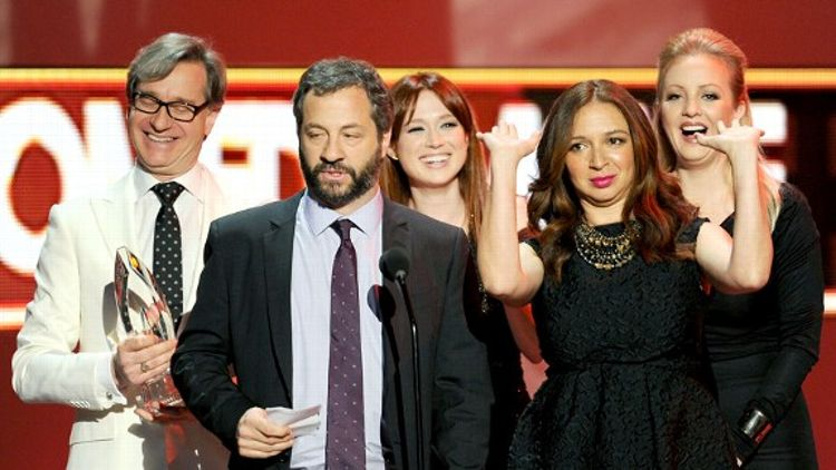 Paul Feig, Judd Apatow, Ellie Kemper, Maya Rudolph and Wendi McLendon-Covey
