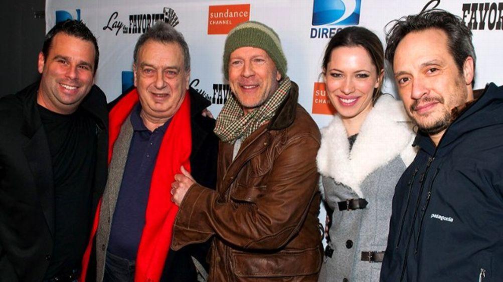 Randall Emmett, Stephen Frears, Bruce Willis, Rebecca Hall and D.V. DeVincentis