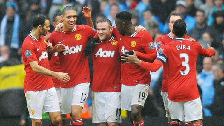 Manchester United Celebrating