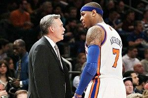 Mike D'Antoni and Carmelo Anthony
