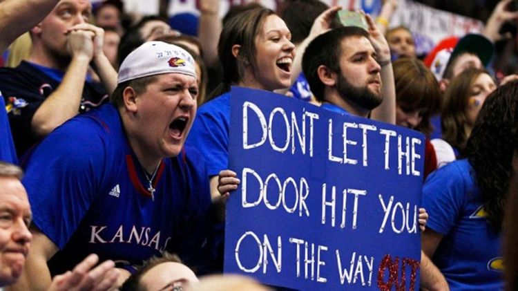 Kansas fans celebrate