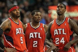 Josh Smith #5, Joe Johnson #2, Marvin Williams #24