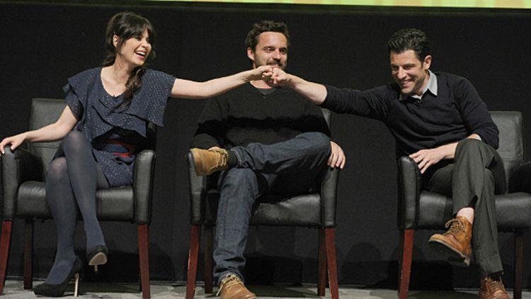 Zooey Deschanel, Jake Johnson and Max Greenfield