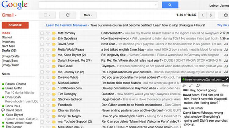 LeBron's Inbox