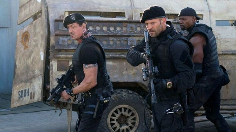 Sylvester Stallone, Jason Statham, Terry Crews